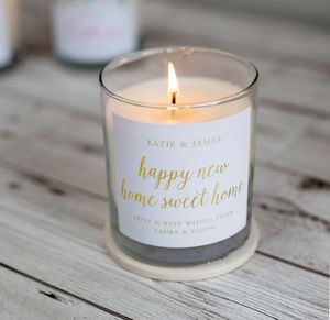 Home Sweet Home Candle - housewarming gifts
