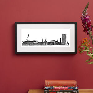 Cardiff Skyline Screen Print