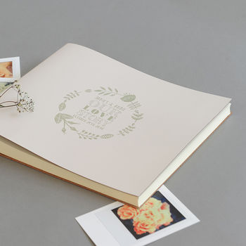 Our Love Story Leather Photo Album