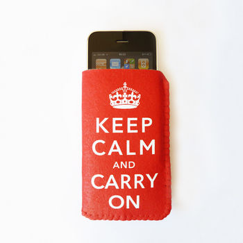 Keep Calm And Carry On Phone Case