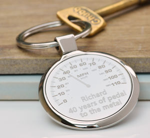 Personalised Car Dial Keyring