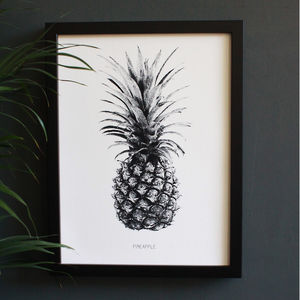 Encyclopaedic Inspired Fine Art Print, Pineapple
