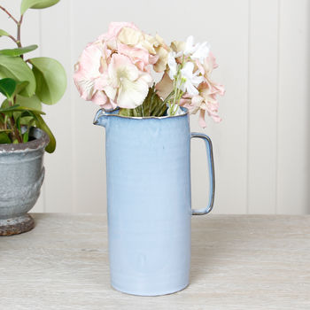 Cornflower Blue Faded Effect Grecian Pitcher Jug