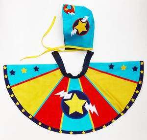Personalised Superhero Baby Cape And Bonnet Set