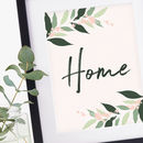 Botanical Tropical Leaves Home Print