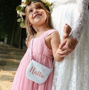 Personalised Leather Flower Girl Bag - flower girl gifts