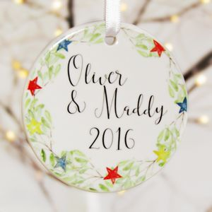 Personalised Christmas Tree Decorations' - tree decorations
