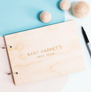 Personalised Minimalist New Baby Record Book