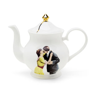 Kissing Couple Teapot - crockery & chinaware