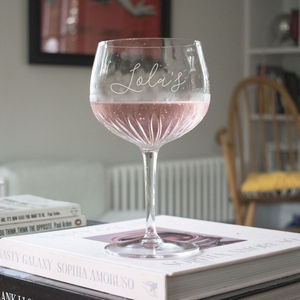 Crystal Cut Personalised Gin Glass - gifts for friends