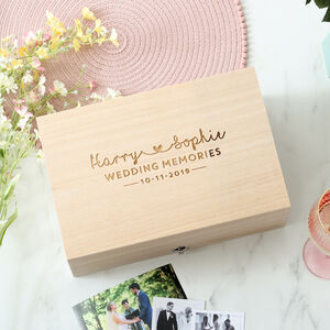 Personalised Wedding Memories Gift Keepsake Box