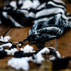 Monochrome Magic Handwoven Cotton Scarf