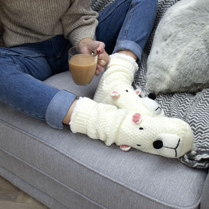 Personalised Polar Bear Slippers - slippers