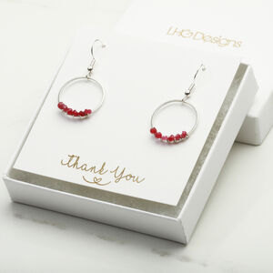 January Garnet Birthstone Earrings Gift For Her