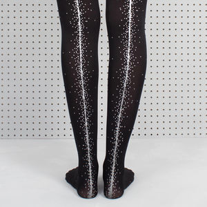 Coppafeel! Black Dot Printed Tights - socks & tights