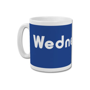 'Kop Exterior' Minimalist Sheffield Wednesday Mug - dining room