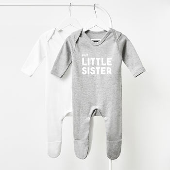 Personalised Little Sister Babygrow