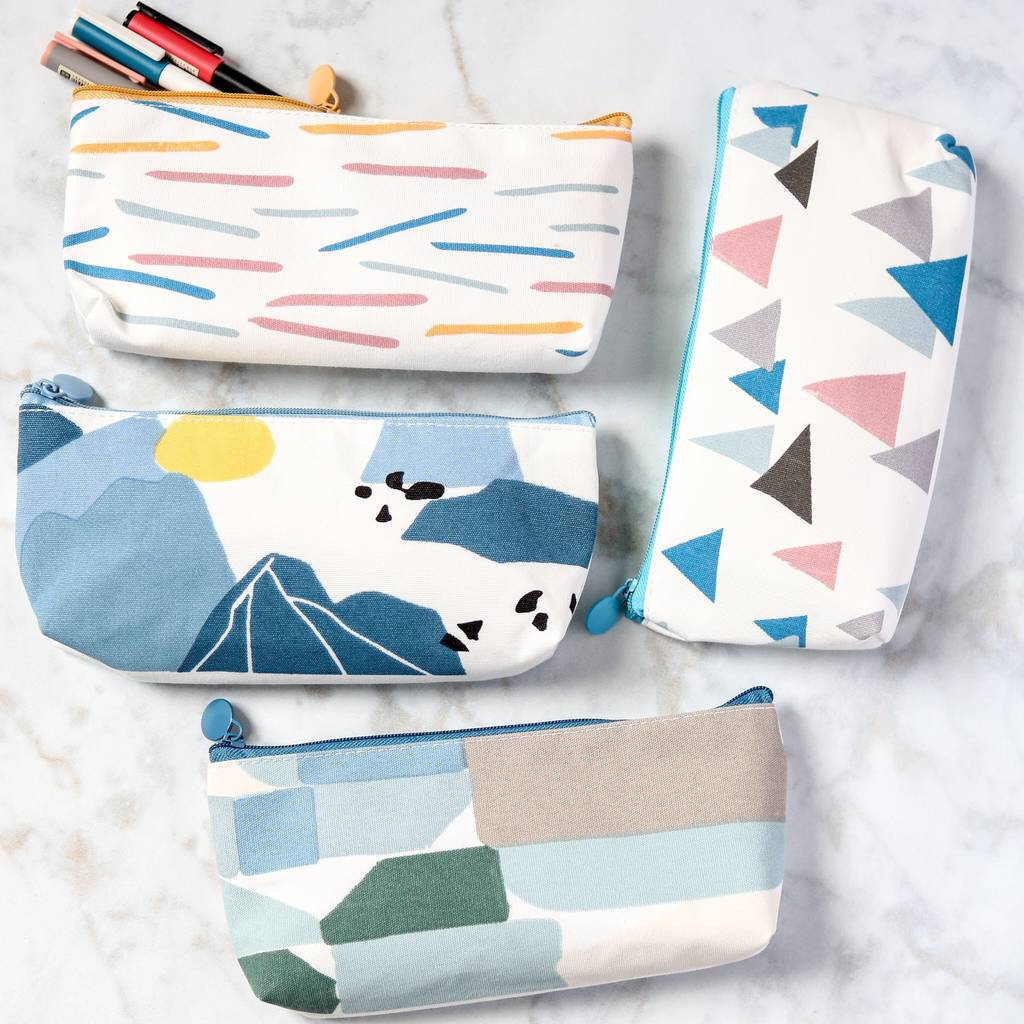 Abstract Pattern Fabric Pencil Case