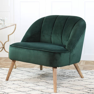 Green Velvet Occasional Chair - furniture