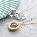 Personalised Small Secret Circle Necklace