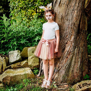 Fawn Antlers And Tutu Skirt Set