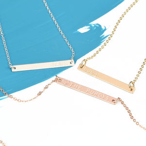 Minimalist Personalised Bar Necklace