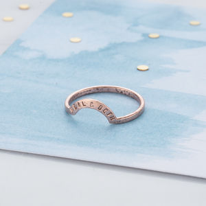 Personalised Crescent Eclipse Ring - rings