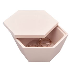 Blush Pink Geometric Trinket Box