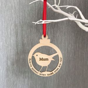 Robin Shape Christmas Bauble Hanging Decorations - christmas decorations
