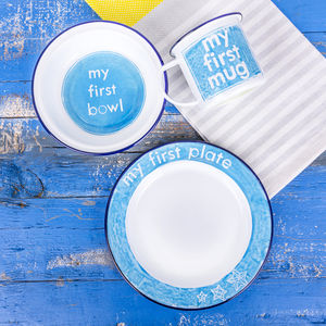 Hand Painted 'My First' Gift Set - plates