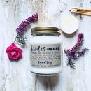Personalised 'Will You Be My Bridesmaid' Scented Candle