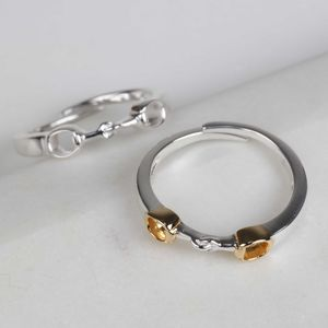 Solid Silver And 18ct Gold Riding Snaffle Ring - what's new