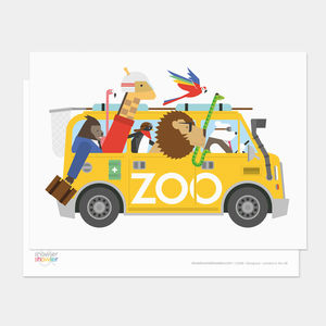 Zoo Escape Postcard - view all sale items