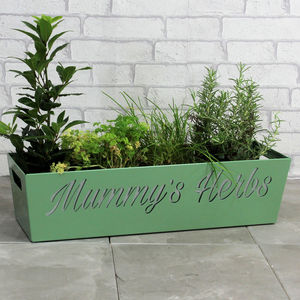 Personalised Steel Planter - gardener