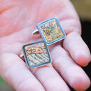 Personalised Location Map Cufflinks