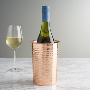 Hammered Copper Wine Cooler - kitchen