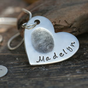 Fingerprint Heart Necklace - necklaces & pendants