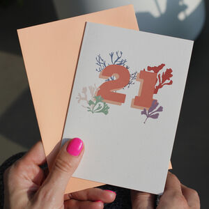 21st Birthday Eco Friendly Age Card