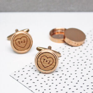Hidden Heart And Initial Twist Cufflinks