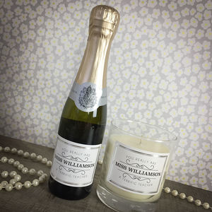 Teacher Mini Prosecco And Candle Gift Set