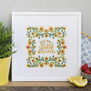 'Let The Sun Shine' Print - nature & landscape