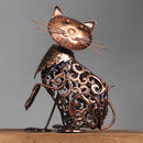 Filigree Cat Solar Garden Light