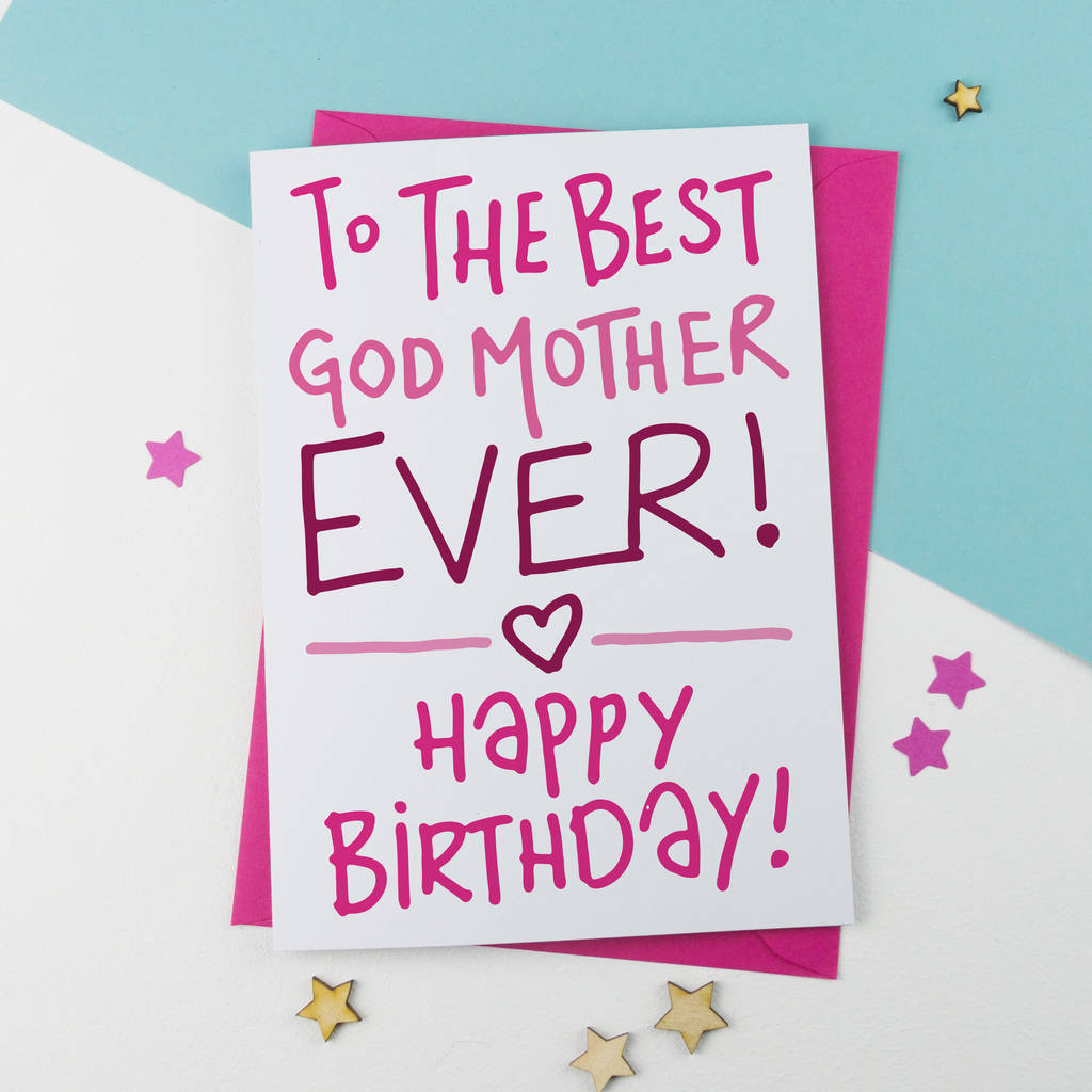 Birthday Card For Godmother By A Is Alphabet