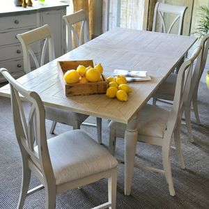 Warwickshire Extendable Dining Table Grey Or Ivory - dining tables