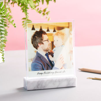 Personalised Marble And Glass Photo Print