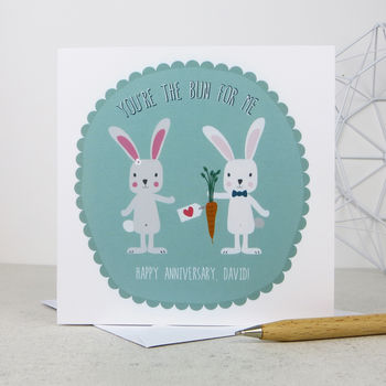 Anniversary 'You're The Bun For Me' Anniversary Card