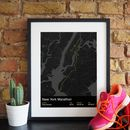 New York Marathon angled framed print preview