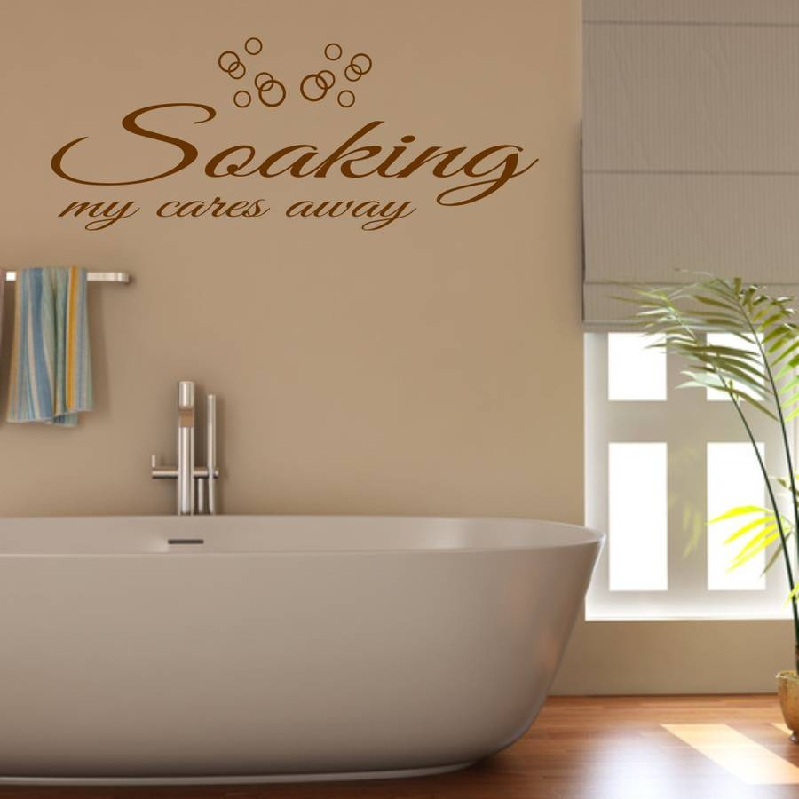 Bathroom Wall Art Quote   Wall Stickers