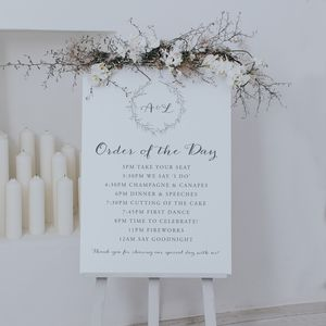 Anna Order Of The Day Sign - room decorations