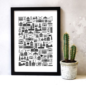 Illustrated Oxford Print